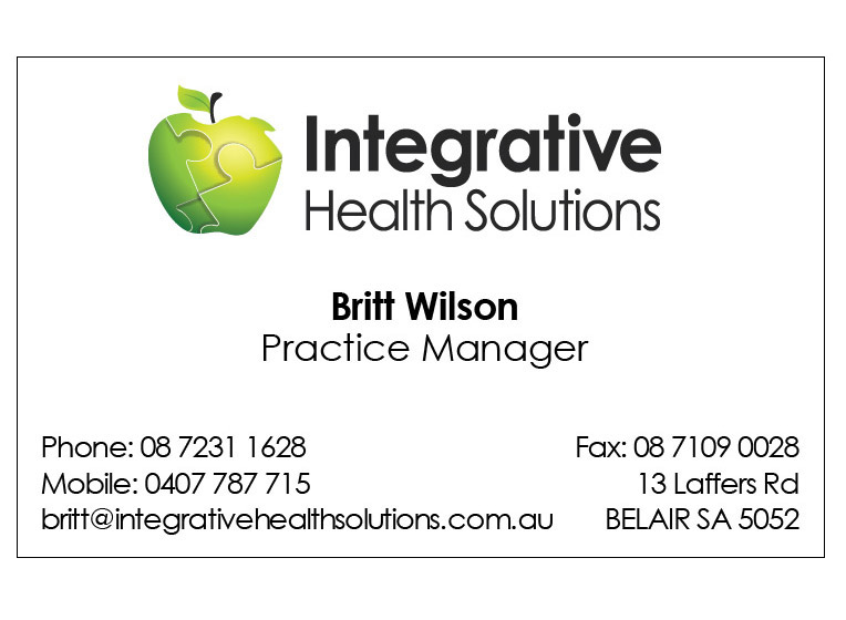 IHS business card design